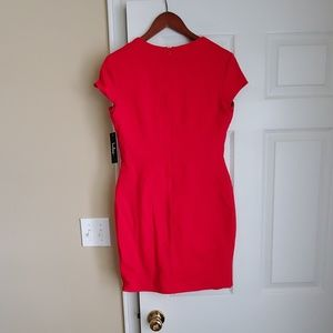 Lulu's Dresses - Lulus Frederica Red Square Neck Bodycon